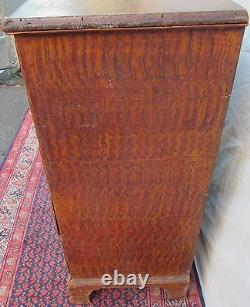 18th C Chippendale Period Antique Blanket Box / Chest Rhode Island Signed