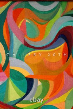 1958! MID Century Modern Original Abstract Painting! Dream Memory Art Vtg