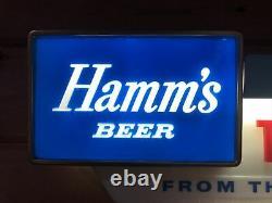 1958 Vintage HAMMS BEER SIGN. Take Home Department. Mn. Island Scene