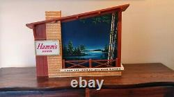 1960s Vintage Hamm's Beer Starry Skies Lighted Motion Wall Sign