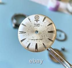 1963 Vintage Tudor Big Rose Oyster Watch Ref 7934 SERVICED Rolex Signed 34mm