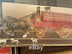 1970's Vintage BUDWEISER Beer Clydesdale Two Sided Bar Sign Clock