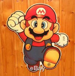 1992 Nintendo Vintage Super Mario Lamp Sign SNES NES Donkey Kong Land World