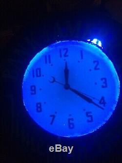 21 Inch Vintage Neon Clock BANK OF AMERICA Sign (American Clock Company)