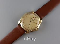 4x signed vintage 1950s LeCoultre Power Reserve bumper automatic watch Cal 481