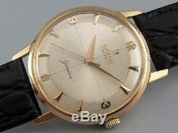 4x signed vintage 1962 OMEGA Geneve automatic watch 18K solid rose gold case
