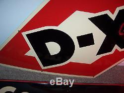 7 FOOT D-X VTG PORCELAIN MOTOR OIL GAS DX SUNRAY service station sign garage