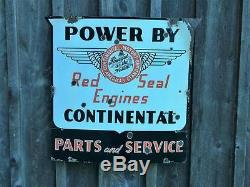 Aviation Aircraft Airplane Old Original Vintage Engine Service Porcelain Sign