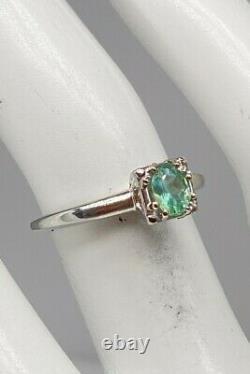 Antique 1940s Signed JABEL $4000.75ct Natural Alexandrite 18k White Gold Ring