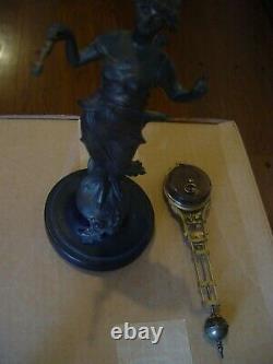 Antique Original Signed Junghans Diana Swinger Mystery Clock Rare