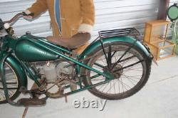 Antique Vintage 1940's Simplex Servi Cycle Motorcycle For Restoration Or Parts
