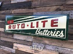 Antique Vintage Style Auto Lite Batteries Sign! LAST CHANCE! DISCONTINUES 6/9/19