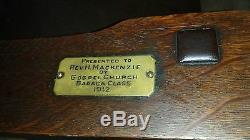 Antique mission oak Signed L& JG Stickley # 814 chair Original Arts & Crafts vtg