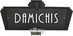Art Deco Style House Name Plaque sign door plaque retro sign 1930s 1940s