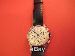 Belmar Vintage Triple Signed 3 Reg Chronograph Military Type Dial No Reserve