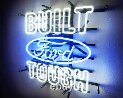 BUILT TOUGH FORD Neon Sign Sport Racing Club Pub Light Auto Shop VIntage Beer