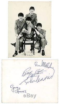 Beatles VINTAGE 8 X 6 PHOTOGRAPH SIGNED STUNNING BY ALL FOUR NOVEMBER, 1963