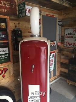 Bennett 966 Gas Pump 50's Vintage With Sinclair Power X Globe /Signs Not Tokheim