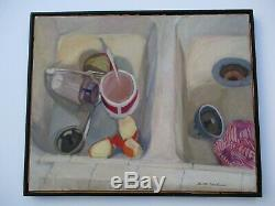 Betty Shulman Oil Painting Original Still Life Modernism Expressionism Vintage