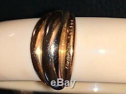 Bracelet signed Cartier Paris vintage 1970 gold and cream