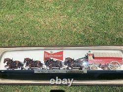Budweiser Champion Clydesdale Team Light And Sign, Vintage 1960s