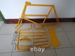 Butchers / trade / vintage bike frame, forks, front carrier and sign