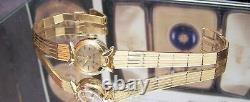 C60's Swiss Rolex Solid 18k Gold Watch & Band + Box Vintage Antique 5x Signed