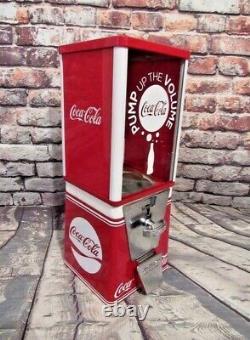 COCA COLA vintage gumball machine M&M dispenser coke memorabilia home decor gift