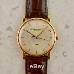 C. 1950 Vintage Audemars Piguet Calatrava Gubelin signed watch in 18k rose gold
