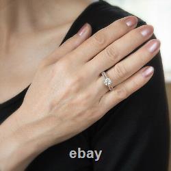 Cartier Vintage Diamond Engagement Ring Platinum Estate Fine Signed Jewelry
