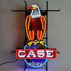 Case Eagle American Farm Harvester Vintage Look Neon Light Neon Sign 5CASEE