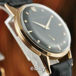 Classic Signed Girard Perregaux 18k Solid Gold Manual Wind Vintage Gents Watch