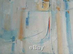 Connors Painting Abstract Non Objective Modernism Vintage Expressionism Large