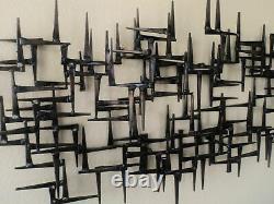 Corey Ellis Art MCM VTG Modern Abstract Brutalist Metal Wall Sculpture Gothic