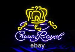 Crown Royal Vintage Man Cave Beer Bar Bistro Neon Sign Light Shop Poster Room