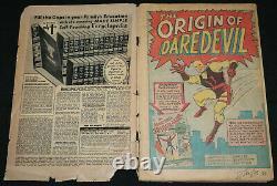 Daredevil #1 1st App of Daredevil Vintage Signed by Stan Lee (Grade 1.5) 1964