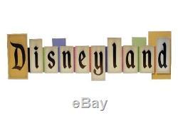 Disney Parks Disneyland VINTAGE PARK ENTRANCE MARQUEE Large Wood Sign NEW 36x11