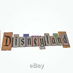 Disney Parks Disneyland Vintage Park Entrance Marquee Large Wood Sign 36x11New