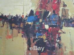 Don Shreves Painting Abstract Expressionism Modernism 1960's Street Scene Vntg