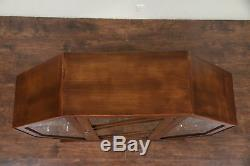 English Art Deco Vintage Octagonal Vitrine or Curio Cabinet, Signed #29550