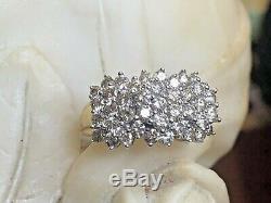 Estate Vintage 10k Gold Natural Diamond Ring Wedding Anniversary Signed Jwbr Kay
