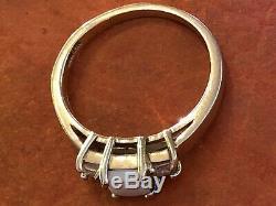 Estate Vintage 14k Yellow Gold Genuine Opal & Diamond Ring Designer Signed Obn