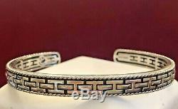 Estate Vintage Sterling Silver Cuff Bracelet Designer Signed Effy