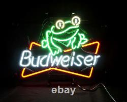 Frog Beer Neon Sign Light Bud Weise Handcraft Pub Club Bistro Patio Vintage Bar