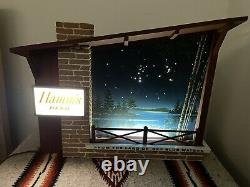 G40 Large MINT VINTAGE HAMM'S BEER STARRY NIGHT MOTION SIGN MID CENTURY 22 Long