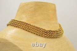 Givenchy Signed Statement Collar Necklace Linked Mesh Gold Vintage Runway Bin4