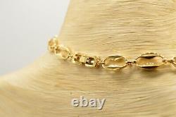 Givenchy Signed Vintage Collar Necklace Black Gold Tone Chain G Logo Runway BinN