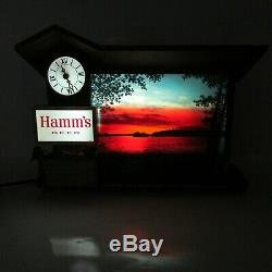 Hamms Beer Vintage Dawn to Dusk Sunrise to Sunset Lighted Motion Sign 1960's