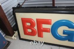 Huge 12' Vintage BF Goodrich Tires Embossed Lighted Panel Gas Oil Sign