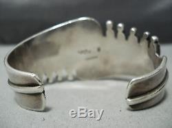 Important Ramone Platero Vintage Navajo Turquoise Sterling Silver Bracelet